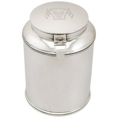 1880s Antique Indian Silver Tea Caddy