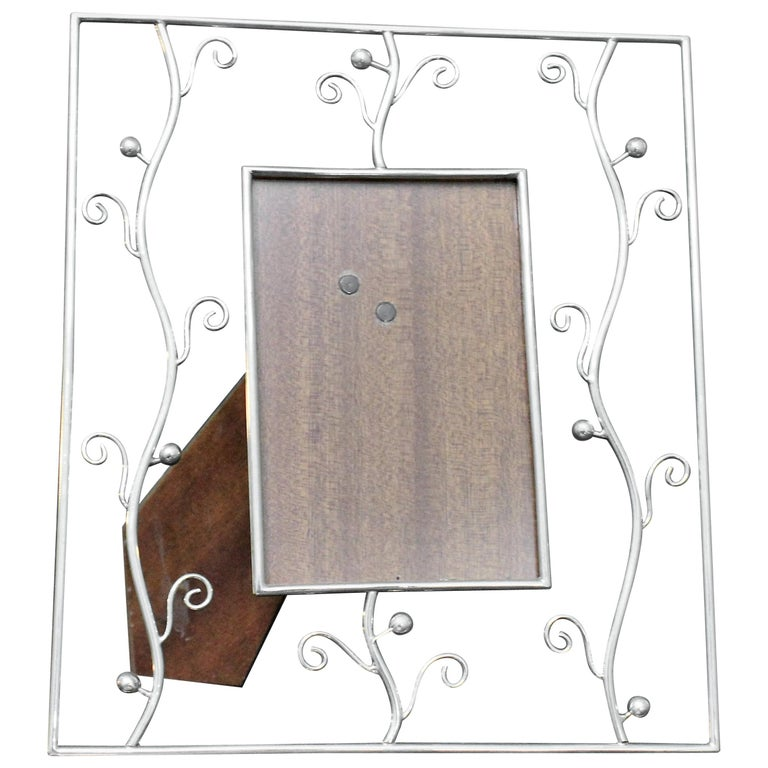 20th Century Italian Artistic Sterling Silver Picture Frame, Florence, 1970s