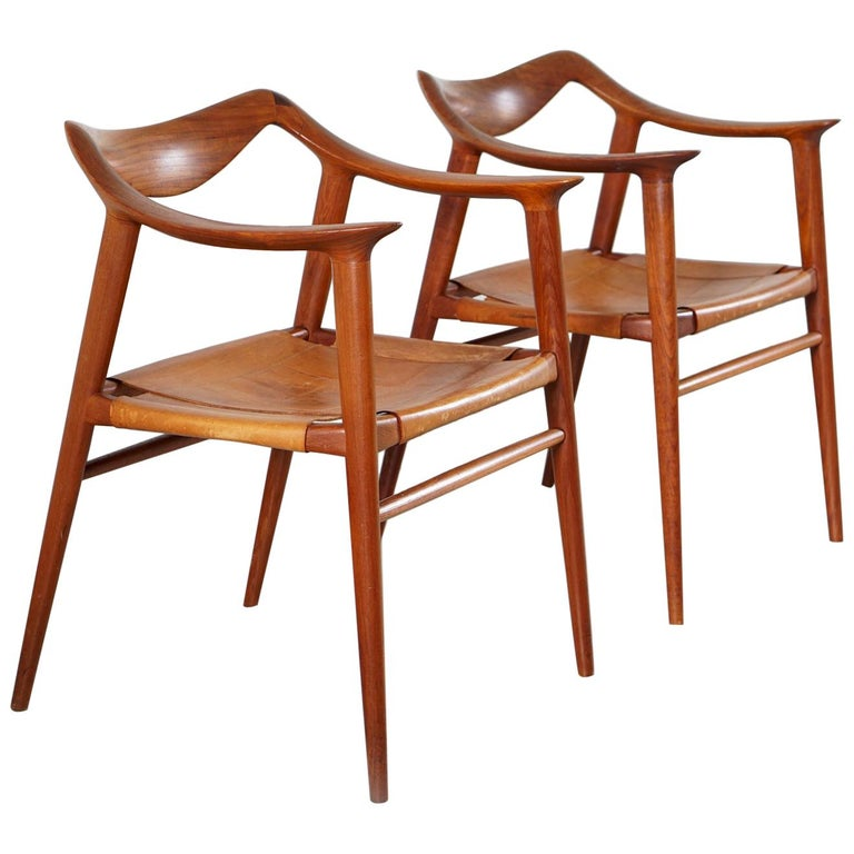 Pair of Radstad and Relling Bambi Armchair by Gustav Bahus, Norway, 1954