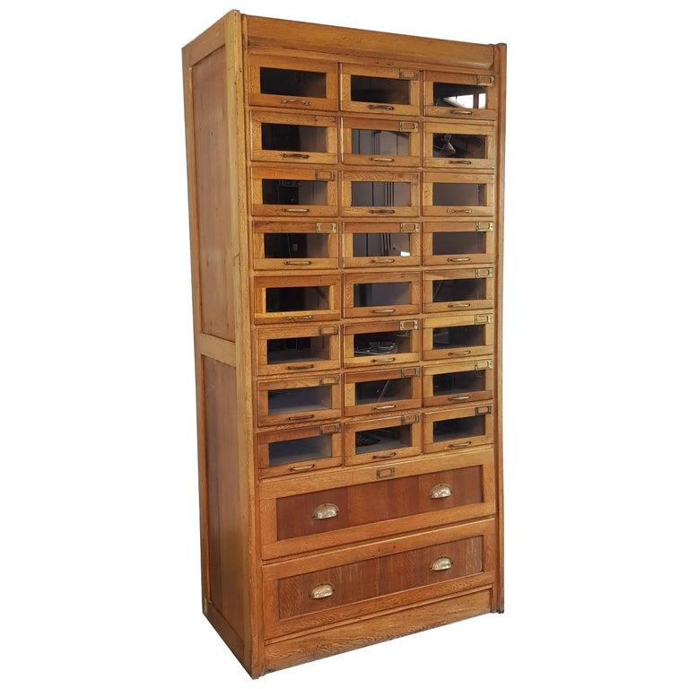 Vintage 1930s British Haberdashery Cabinet
