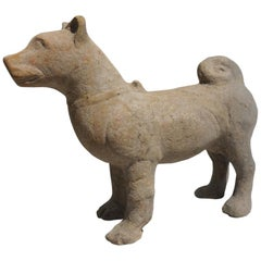 Large Ancient Chinese Figure of a Dog, Han Dynasty, 100 BC, Terracotta TL-Tested