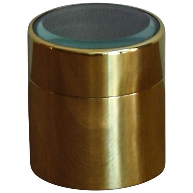 Brass and Glass Canister