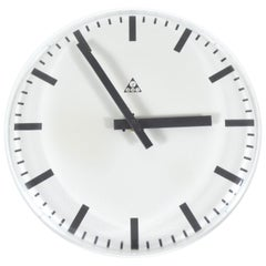 Pragotron Wall Clock with No Frame, Czechoslovakia, 1980s