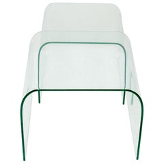 Two FIAM Design Glass Side Tables