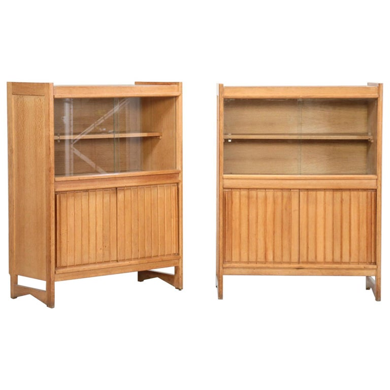 Guillerme et Chambron Cabinets for Votre Maison, 1960s, Set of Two For Sale