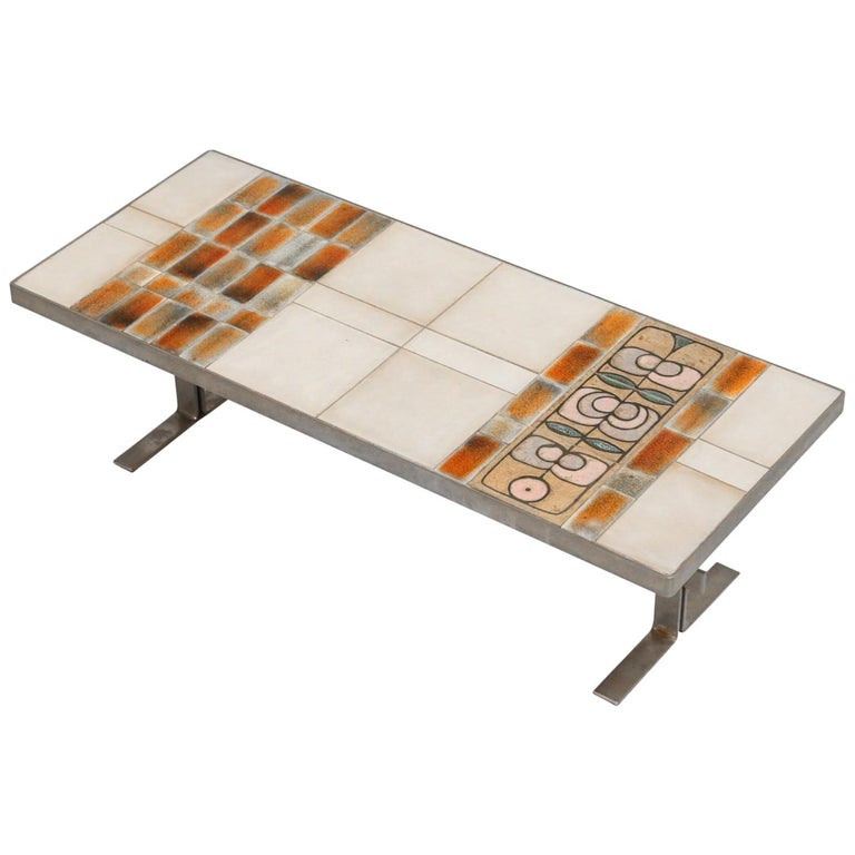 Coffee Table with Ceramic Tabletop, 1960s