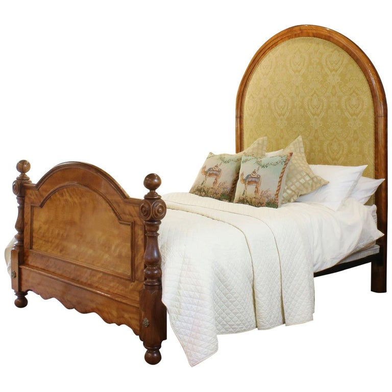 Satinwood Upholstered Bed, WK99 For Sale
