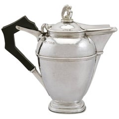 1920's Antique Sterling Silver Coffee Jug