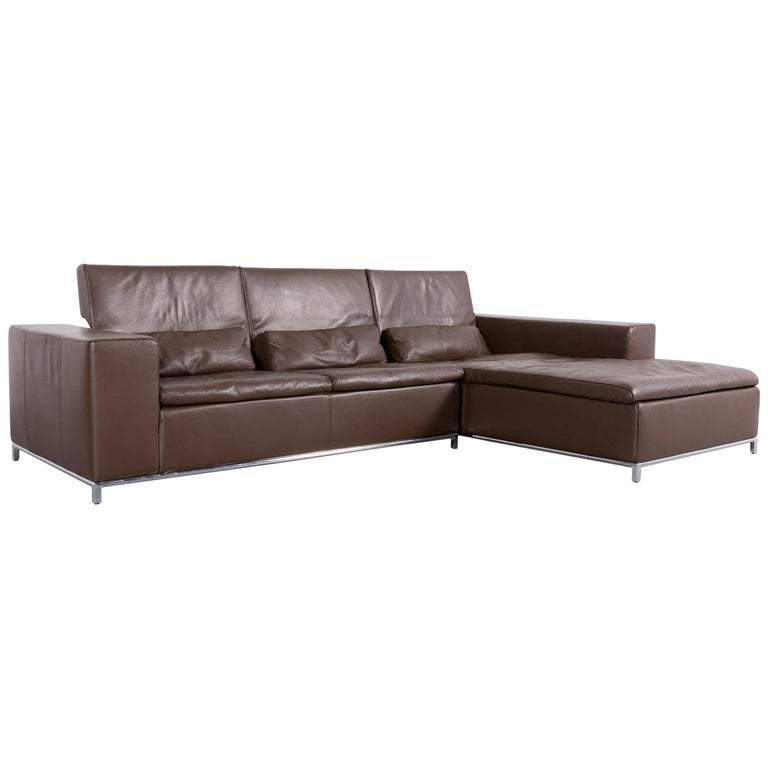 Who's Perfect Boston Corner Sofa Brown Leather