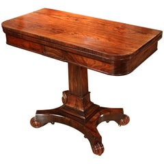 19th Century Regency Rosewood Card Table