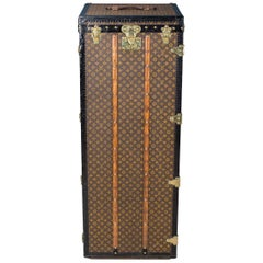 Antique Rare Louis Vuitton Monogram Malle Penderie Trunk, circa 1910