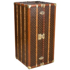 Antique 20th Century Rare Louis Vuitton Wardrobe Trunk, circa 1930