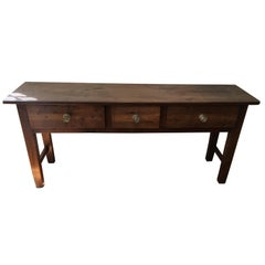 French Chestnut Serving Table