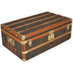 Antique 20th Century Beautiful Goyard Cabin Trunk, circa 1930