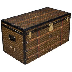 Antique 20th Century Rare Louis Vuitton Steamer Trunk, circa 1910
