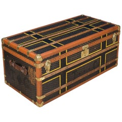 Antique 20th Century Beautiful Large Goyard Trunk, circa 1910