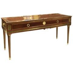 """Square Piano, Mahogany, """"Églomisé"""" Glass, Gilt Bronze, circa 1825"""