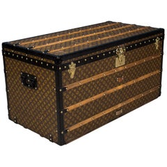 Antique 20th Century Rare Louis Vuitton Monogram Steamer Trunk, circa 1910