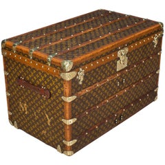 Antique 20th Century Louis Vuitton Monogram Courier Trunk, circa 1900