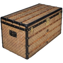 Antique 19th Century Louis Vuitton Woven Steamer Trunk, circa 1896
