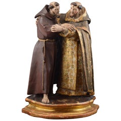 """Saint Dominic and Saint Francis"", Colonial School, 18th Century"