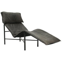 Skye Leather Chaise Longue by Tord Björklund for Ikea, 1970s