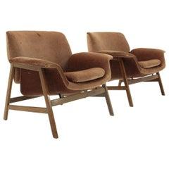 Velvet 849 Armchair by Gianfranco Frattini for Cassina, 1950s, Set of Two