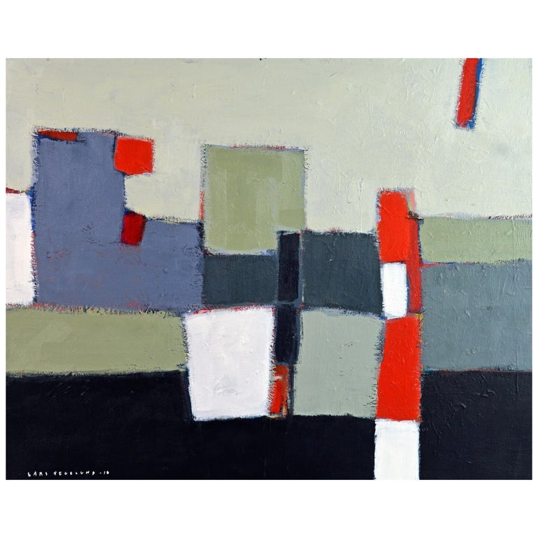 'The Docks' Contemporary Abstract Original Painting by Lars Hegelund For Sale