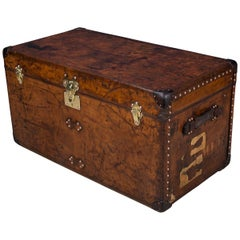 Antique 20th Century Louis Vuitton Trunk in Cow Hide, circa 1900