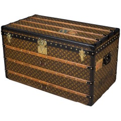 Antique Rare Louis Vuitton Monogram Malle Steamer Trunk, circa 1910