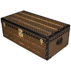 Antique 20th Century Louis Vuitton Monogram Steamer Trunk, circa 1910