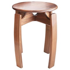 Nymph Wood Side Table Small Version, Walnut Contemporary Accent Drink Table