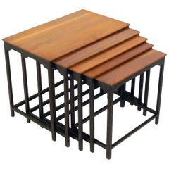 Set of Clean Lined Nesting Tables by Edward Wormley for Dunbar
