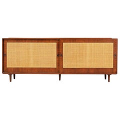 Finn Juhl Walnut and Cane Front Credenza for Baker