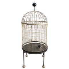 Rare Sculptural Birdcage by Frederick Weinberg, circa 1955