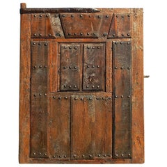 Mid to Late 17th Century Paneled Basque Compound Gate, Oak and Cherry