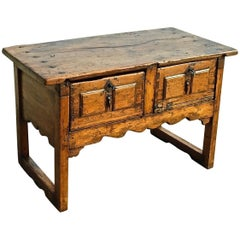 Late 17th-Early 18th Century Spanish Writing Table, Walnut and Pine