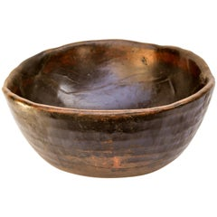 Unusually Large Vintage Tribal Wooden Bowl, Fulani of Niger, Mid-20th Century