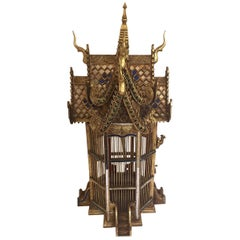 Asian Spirit House Thai Shrine Temple Bird Cage