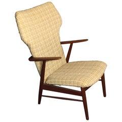 Hans Olsen Lounge Chair Prototype, Teak Midcentury, 1960s