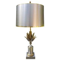 Maison Jansen Brass Artichoke Lamp, France, 1970s