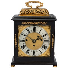 Ebony and Gilt Table Clock by Edward Burgis, London