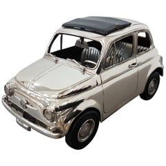 20th Century Made in Italy Sterling Silver Car Fiat 500F