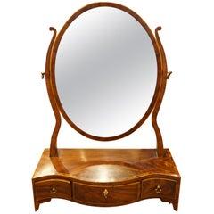 George III Mahogany Framed Dressing Mirror