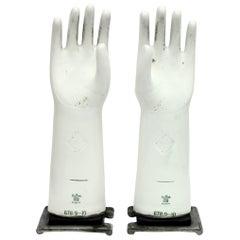 Vintage Industrial Rosenthal Glove Moulds, 1970s