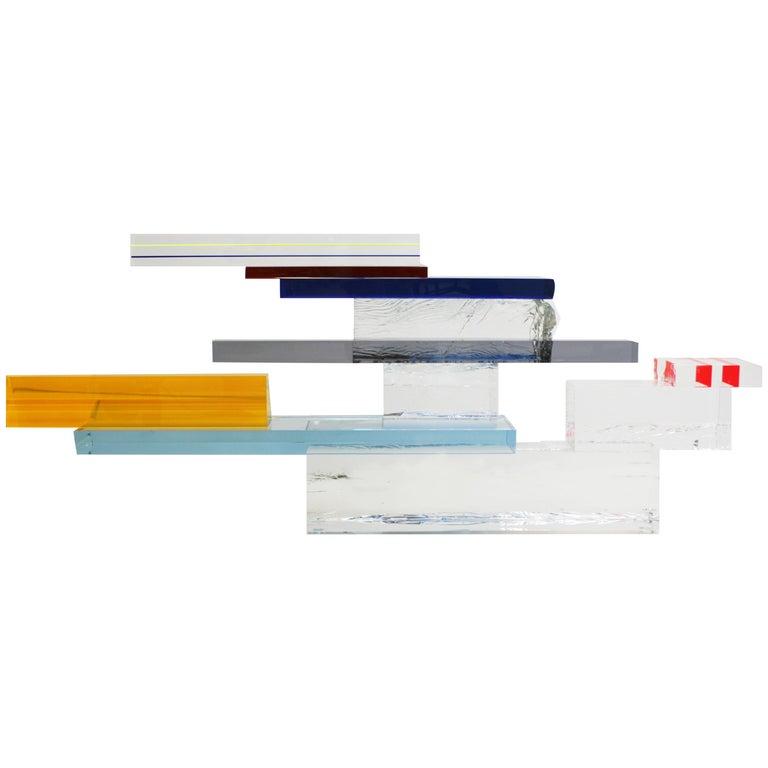 "Superego Console ""Tourmaline"" Manufactured in Plexiglass, Italy"