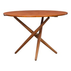 1950s Brown Wooden Eat and Tea Table by Jürg Bally 'k'