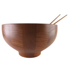 Henning Koppel Danish Teak Centerpiece Bowl for Georg Jensen, circa 1960s