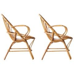 Couple of Bamboo Seats, France, 1970