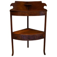 Early 19th Century Mahogany Corner Washstand